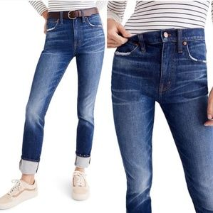 Madewell The High-Rise Slim Boyjean Skinny Jean A5